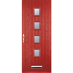 Euramax 4 Square Red Right Hand Composite Door