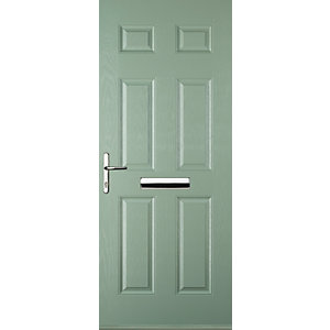 Euramax 6 Panel Chartwell Green Right Hand Composite Door