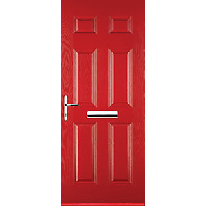 Euramax 6 Panel Red Right Hand Composite Door