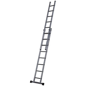 Werner Pro 2 Section Aluminium Extension Ladder - Max Heigh 3.96m