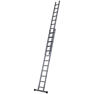 Werner Pro 2 Section Aluminium Extension Ladder - Max Height 6.28m