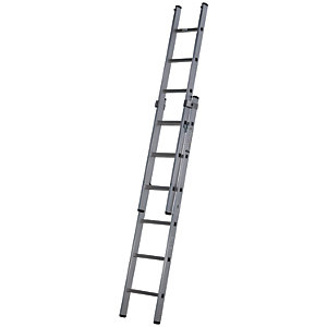 Werner Pro 2 Section Aluminium Externsion Ladder - Max Height 2.70m
