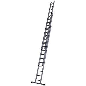 Werner Pro 3 Section Aluminium Extension Ladder - Max Height 10.63m