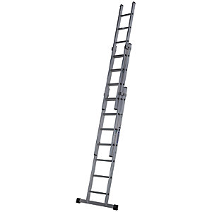 Werner Pro 3 Section Aluminium Extension Ladder - Max Height 4.83m
