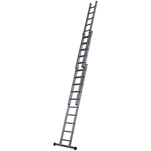 Werner Pro 3 Section Aluminium Extension Ladder - Max Height - 7.44m