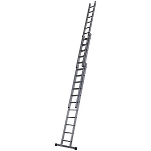 Werner Pro 3 Section Aluminium Extension Ladder - Max Height 8.31m