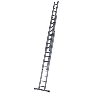 Werner Pro 3 Section Aluminium Extension Ladder - Max Height 9.18m