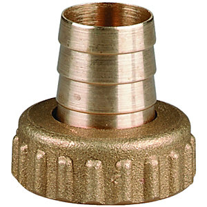 Wickes Brass Union Garden Hose Tap Nut & Tail