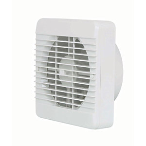 Manrose Kitchen Fan with Pullcord - White 150mm