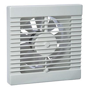 Manrose Slatted Standard Fan Blister Pack - White 100mm