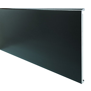 Wickes PVCu Black Box End Board 18 x 450 x 1250mm