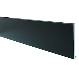 Wickes PVCu Black Fascia Board 18 x 175 x 2500mm
