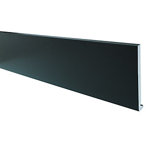 Wickes PVCu Black Fascia Board 18 x 225 x 4000mm