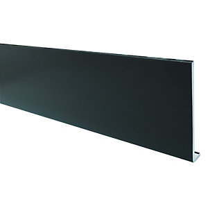 Wickes PVCu Black Fascia Board 9 x 175 x 2500mm