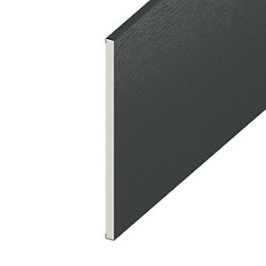 Wickes PVCu Soffit Reveal Liner - 225 x 9mm x 3m Anthracite Grey
