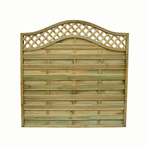 Wickes Pressure Treated Bristol Fence Panel - 6 x 6ft