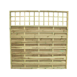 Wickes Pressure Treated Hertford Fence Panel - 1800 x 1800mm