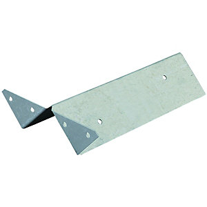 Wickes Arris Rail Fencing Fixing Bracket Galvanised Steel