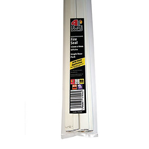 4FireDoors Intumescent Fire Seal - White 15 x 4mm Single Door Pack of 5