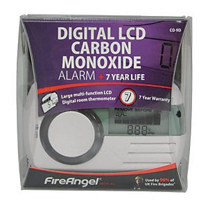 FireAngel 7 Year Sealed Battery Digital Carbon Monoxide Alarm