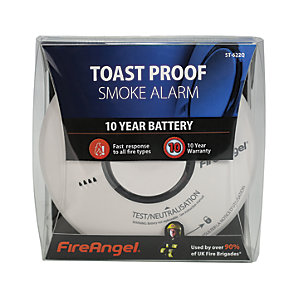FireAngel Toast Proof Smoke Alarm 10 Year Battery