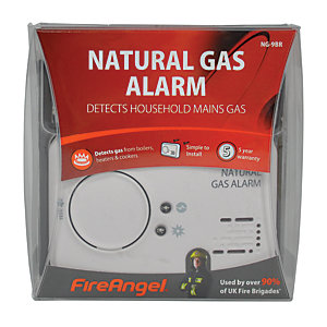 Fireangel Natural Gas Alarm - Replaceable Batteries
