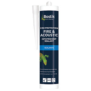 Bostik Fire & Acoustic Intumescent Sealant - White 310ml