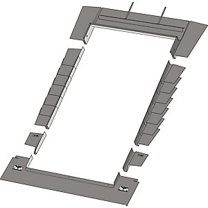 Keylite Roof Window Deep Tile Flashing - 550 x 980mm