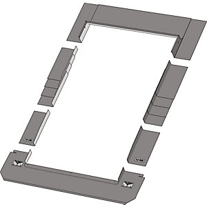 Keylite Roof Window Slate Flashing - 1340 x 1400mm