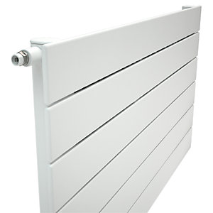 Henrad Verona Single Panel Designer Radiator - White 588 x 600 mm