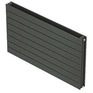 QRL Slieve Double Panel Horizontal Designer Radiator - Anthracite 578 x 1200 mm