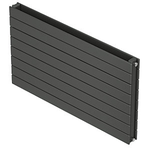 QRL Slieve Double Panel Horizontal Designer Radiator - Anthracite 578 x 1400 mm