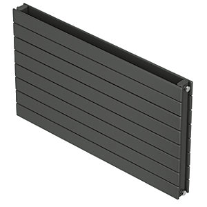 QRL Slieve Double Panel Horizontal Designer Radiator - Anthracite 578 x 1600 mm