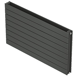 QRL Slieve Double Panel Horizontal Designer Radiator - Anthracite 578 x 800 mm