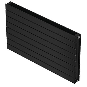 QRL Slieve Double Panel Horizontal Designer Radiator - Black Quartz 578 x 1200 mm
