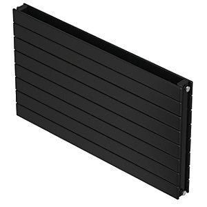 QRL Slieve Double Panel Horizontal Designer Radiator - Black Quartz 578 x 1400 mm