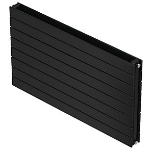 QRL Slieve Double Panel Horizontal Designer Radiator - Black Quartz 578 x 800 mm