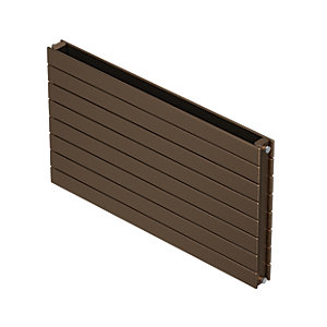 QRL Slieve Double Panel Horizontal Designer Radiator - Bronze 578 x 1200 mm