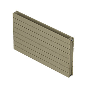 QRL Slieve Double Panel Horizontal Designer Radiator - Champagne 578 x 800 mm