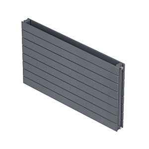 QRL Slieve Double Panel Horizontal Designer Radiator - Silver 578 x 1000 mm