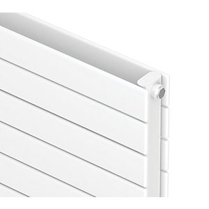 QRL Slieve Double Panel Horizontal Designer Radiator - White 578 x 1000 mm