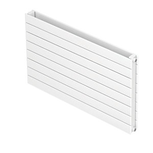 QRL Slieve Double Panel Horizontal Designer Radiator - White 578 x 1400 mm