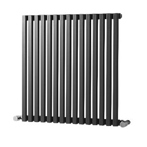 Wickes Grace Multi-Column Designer Radiator - Gunmetal Grey 600 x 990 mm