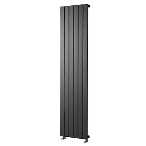Wickes Haven Flat Panel Vertical Designer Radiator - Anthracite 1800 x 435 mm