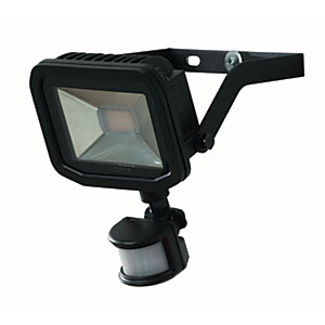 Luceco Guardian Slimline LED Black PIR Floodlight - 22W