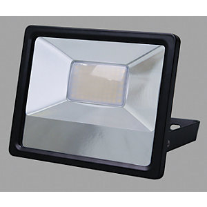Wickes Aluminium Black Floodlight - 30W