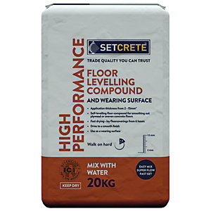 Setcrete High Performance Floor Levelling Compound - 20kg
