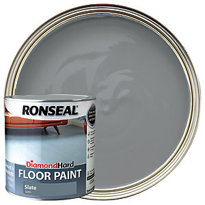 Ronseal Diamond Hard Floor Paint - Satin Slate 2.5L