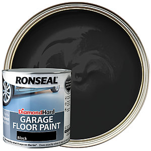 Ronseal Diamond Hard Garage Floor Paint - Satin Black 2.5L
