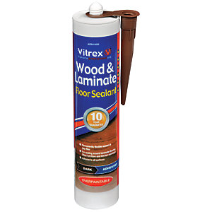 Vitrex Flexible Flooring Sealant Dark Oak - 310ml